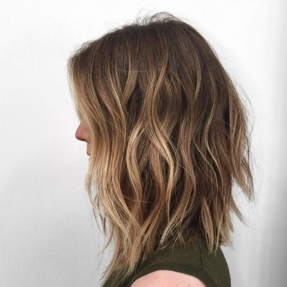 10 Hottest Lob Haircut Ideas In 2018 | Hair | Pinterest | Wavy Lob Regarding Dark And Light Contrasting Blonde Lob Hairstyles (View 7 of 25)