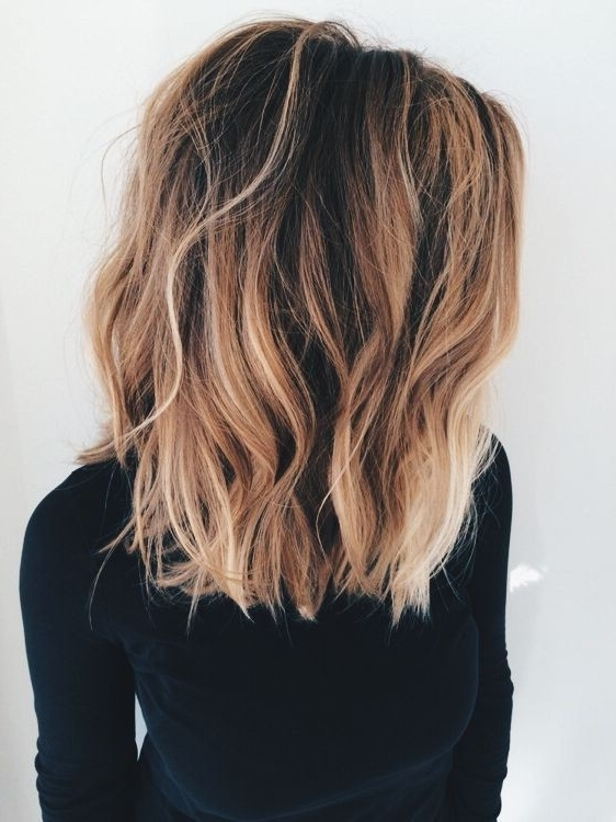 10 Hottest Lob Haircut Ideas – Popular Haircuts Within Dark And Light Contrasting Blonde Lob Hairstyles (View 3 of 25)