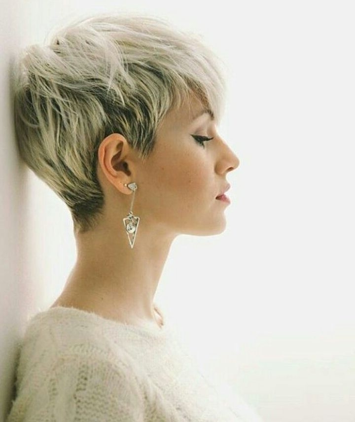 10 Latest Pixie Haircut Designs For Women – Short Hairstyles 2018 Throughout Best And Newest Undercut Blonde Pixie Hairstyles With Dark Roots (View 4 of 25)