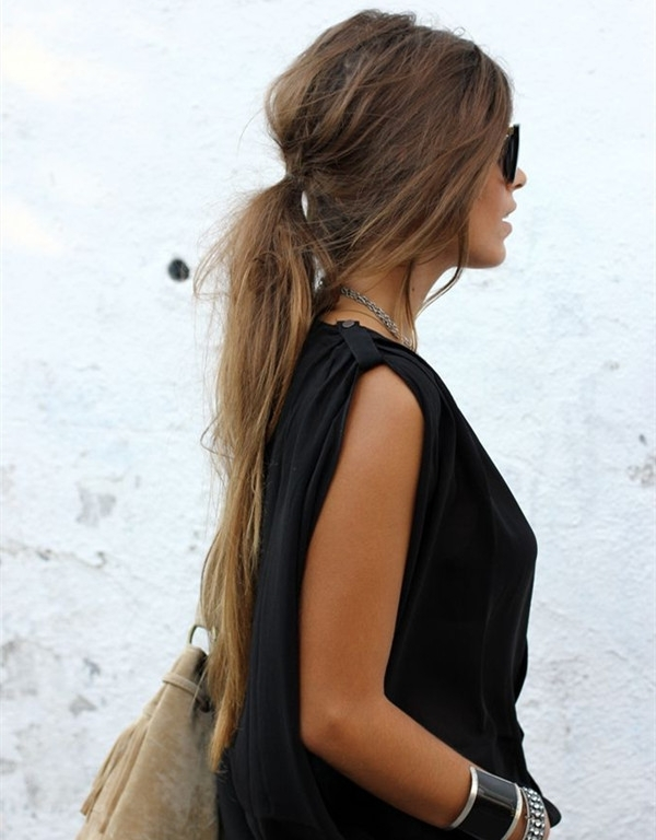 10 Lovely Ponytail Hair Ideas For Long Hair, Easy Doing Within 5 Inside Low Messy Ponytail Hairstyles (View 22 of 25)