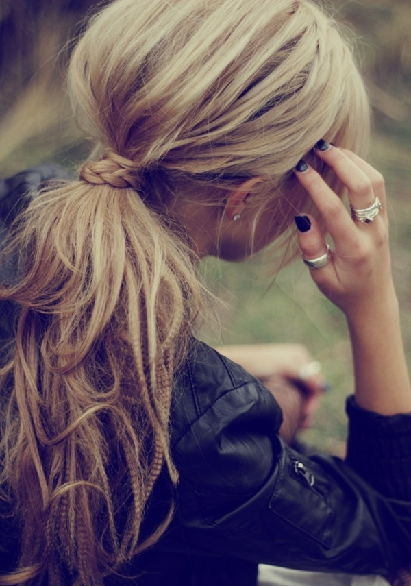 10 Lovely Ponytail Hair Ideas For Long Hair, Easy Doing Within 5 Throughout Long Messy Pony With Braid (View 12 of 25)