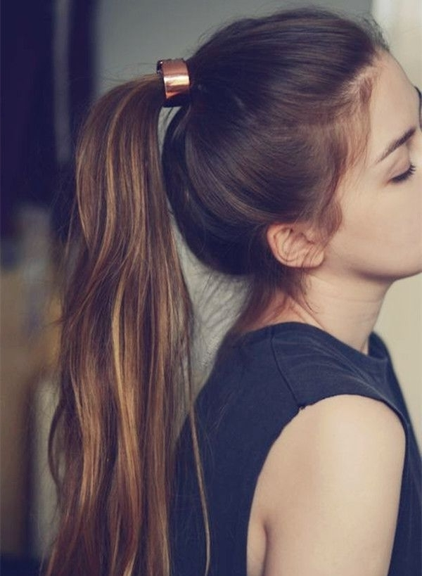 10 Lovely Ponytail Hair Ideas For Long Hair, Easy Doing Within 5 With Regard To Punky Ponytail Hairstyles (View 11 of 25)
