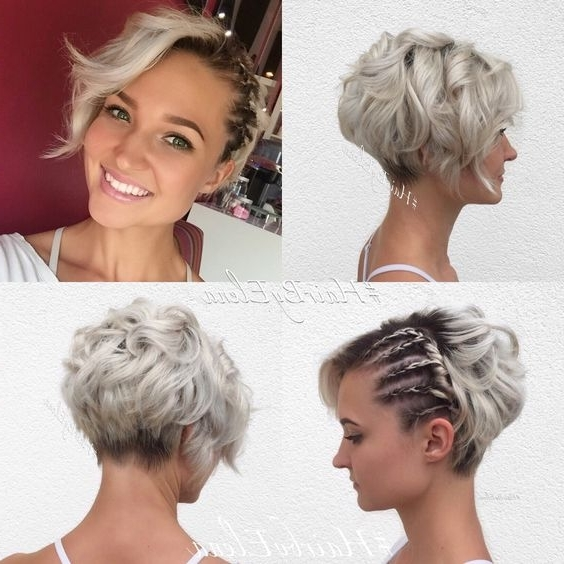 10 Messy Hairstyles For Short Hair – 2018 Short Hair Cut & Color Update Within Most Up To Date Disconnected Blonde Balayage Pixie Hairstyles (View 19 of 25)