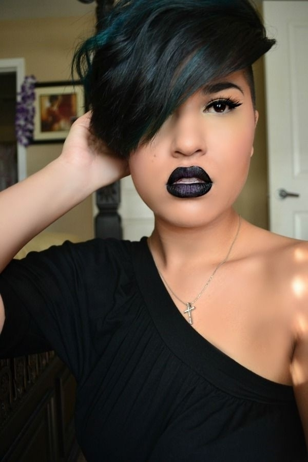 10 New Black Hairstyles With Bangs – Popular Haircuts With Newest Choppy Asymmetrical Black Pixie Hairstyles (View 1 of 25)