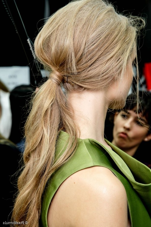 10 Ponytail Hairstyles For Prom 2015 Regarding Crimped Pony Look Ponytail Hairstyles (View 4 of 25)