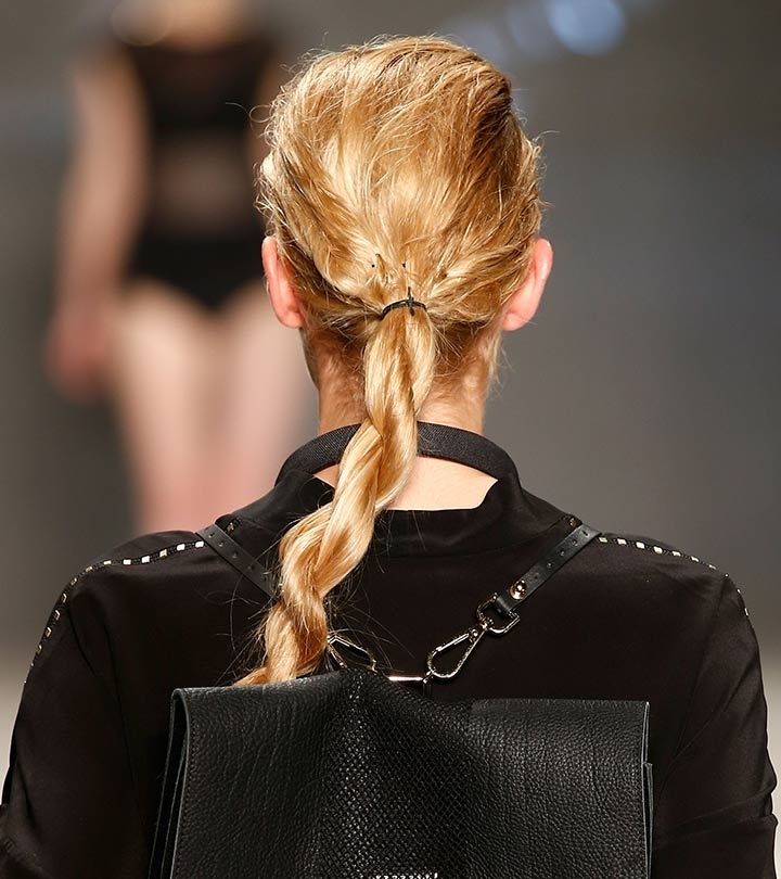 10 Popular Rope Braid Hairstyles You Must Try Intended For Perfectly Undone Half Braid Ponytail (View 23 of 25)