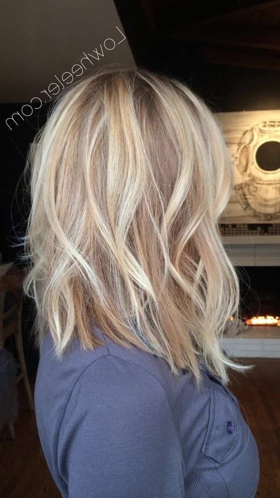 10 Pretty Layered Medium Hairstyles: Women Shoulder Hair Cuts 2018 With Regard To Textured Medium Length Look Blonde Hairstyles (View 10 of 25)