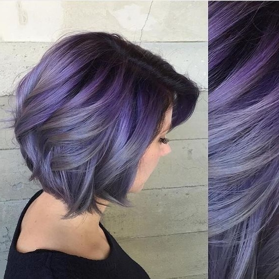 10 Pretty Pastel Hair Color Ideas With Blonde, Silver, Purple And with regard to Blonde Bob Hairstyles With Lavender Tint