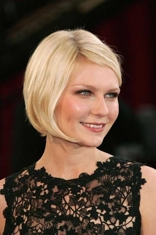 10 Short Bob Hairstyles With Side Swept Bangs   Short Hairstyles Intended For Blonde Bob With Side Bangs (View 13 of 25)