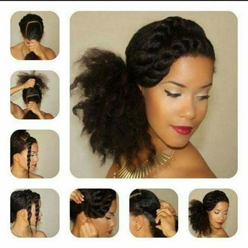 10 Stunning Hairstyles For Natural Hair For Pony Hairstyles For Natural Hair (View 2 of 25)