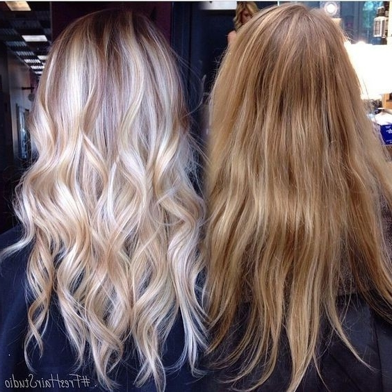 10 Stylish Hair Color Ideas 2017: Ombre And Balayage Hair Styles For Icy Ombre Waves Blonde Hairstyles (View 1 of 25)
