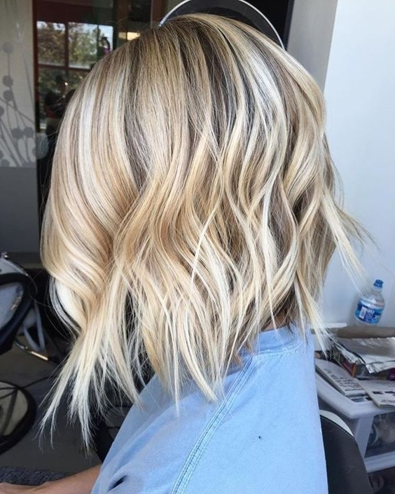 10 Stylish & Sweet Lob Haircut Ideas, 2018 Shoulder Length Hairstyles For Angled Wavy Lob Blonde Hairstyles (View 1 of 25)
