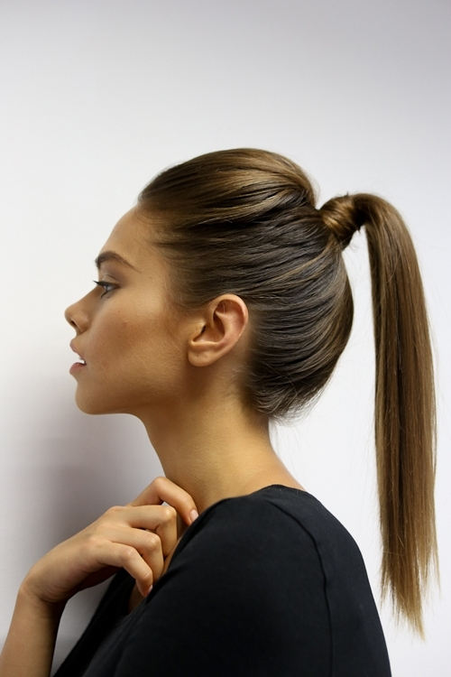 10 Tips To Get The Perfect Ponytail – Hair World Magazine With Ponytail Hairstyles With Bump (View 2 of 25)