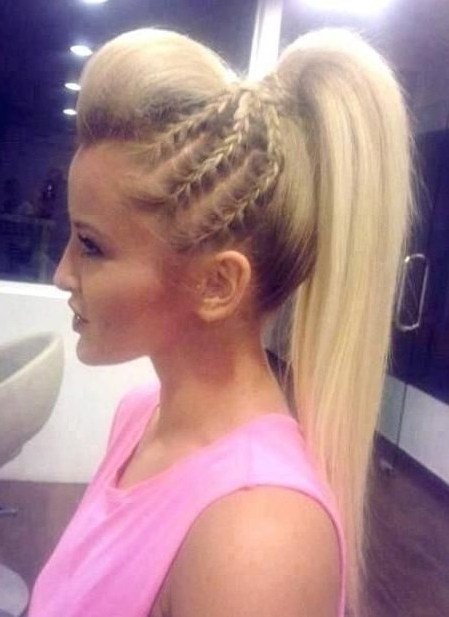 10 Trendy Braided Hairstyles – Popular Haircuts With Regard To Large And Loose Braid Hairstyles With A High Pony (View 4 of 25)