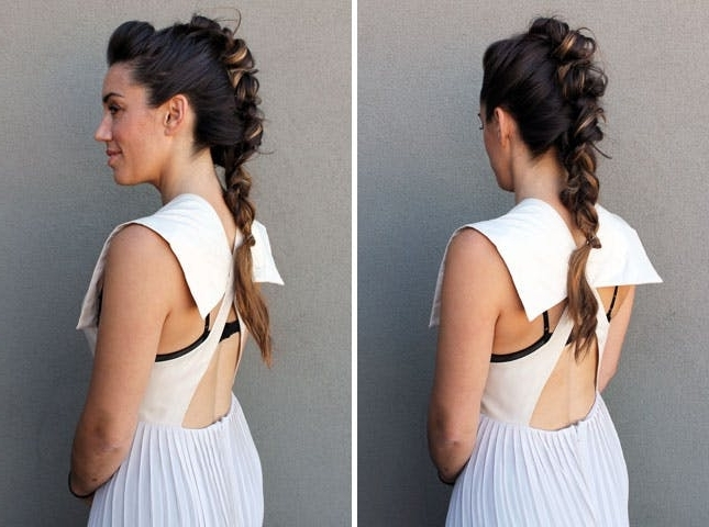 10 Unconventional Ways To Style A Braid | Brit + Co Intended For Fauxhawk Ponytail Hairstyles (View 19 of 25)