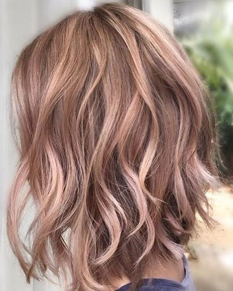 10 Unique And Desirable Pastel Hair Ideas: Stylish Hair Color Intended For Brown Blonde Balayage Lob Hairstyles (View 5 of 25)