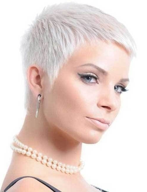 10 Very Short Pixie Haircuts In 2018 | Gorgeous Hair | Pinterest Pertaining To Latest Bleach Blonde Pixie Hairstyles (View 13 of 25)