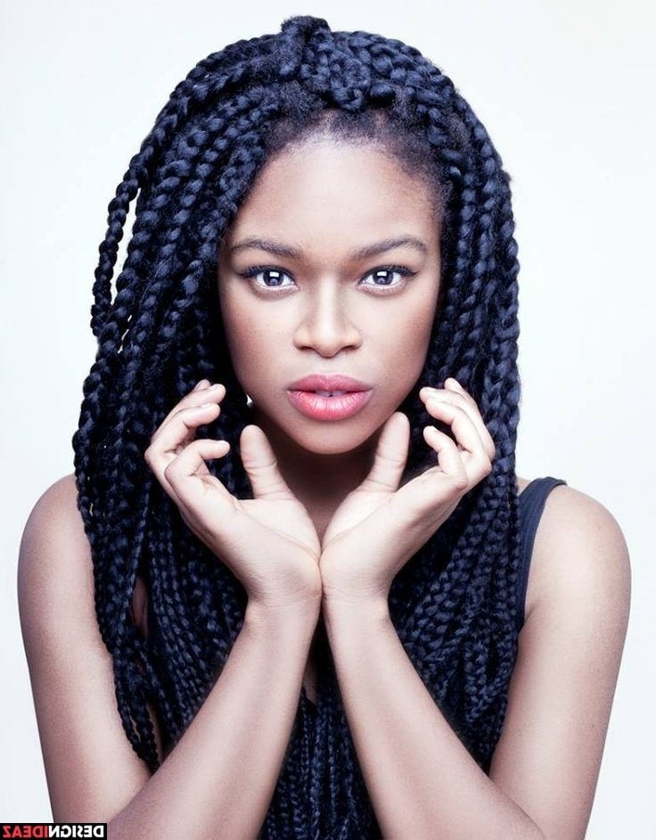 100 Best Black Braided Hairstyles – 2018 Intended For Braided Mohawk Pony Hairstyles With Tight Cornrows (View 10 of 25)