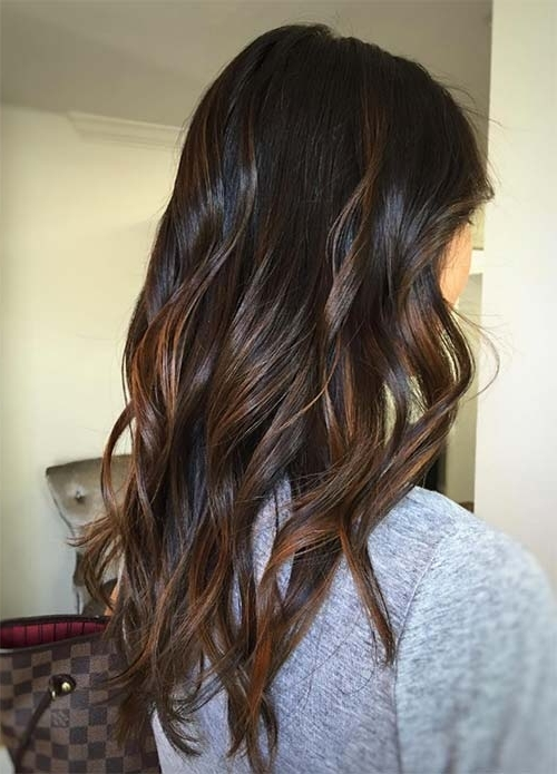 100 Dark Hair Colors: Black, Brown, Red, Dark Blonde Shades For Bronde Beach Waves Blonde Hairstyles (View 1 of 25)