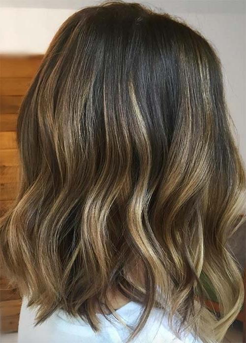 100 Dark Hair Colors: Black, Brown, Red, Dark Blonde Shades Inside Dark And Light Contrasting Blonde Lob Hairstyles (View 17 of 25)
