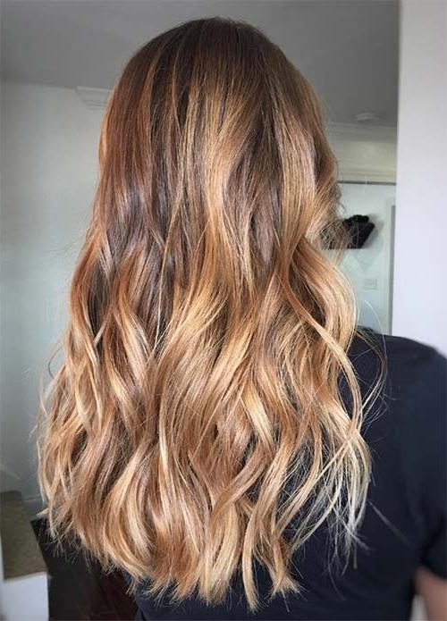 100 Dark Hair Colors: Black, Brown, Red, Dark Blonde Shades Inside Sunkissed Long Locks Blonde Hairstyles (View 4 of 25)