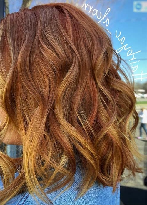 100 Dark Hair Colors: Black, Brown, Red, Dark Blonde Shades Intended For Light Copper Hairstyles With Blonde Babylights (View 12 of 25)