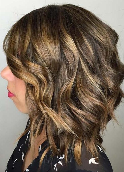 100 Dark Hair Colors: Black, Brown, Red, Dark Blonde Shades Pertaining To Dark Brown Hair Hairstyles With Silver Blonde Highlights (View 1 of 25)