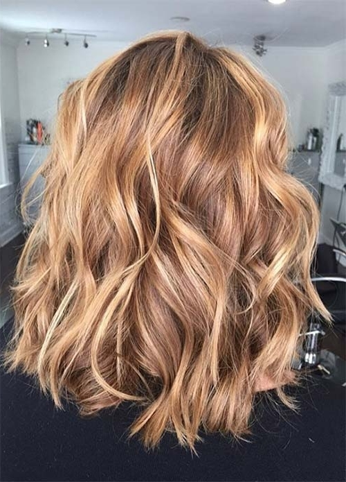 100 Dark Hair Colors: Black, Brown, Red, Dark Blonde Shades Regarding Honey Hued Beach Waves Blonde Hairstyles (View 1 of 25)