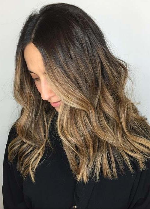 100 Dark Hair Colors: Black, Brown, Red, Dark Blonde Shades Throughout Brown And Dark Blonde Layers Hairstyles (View 3 of 25)