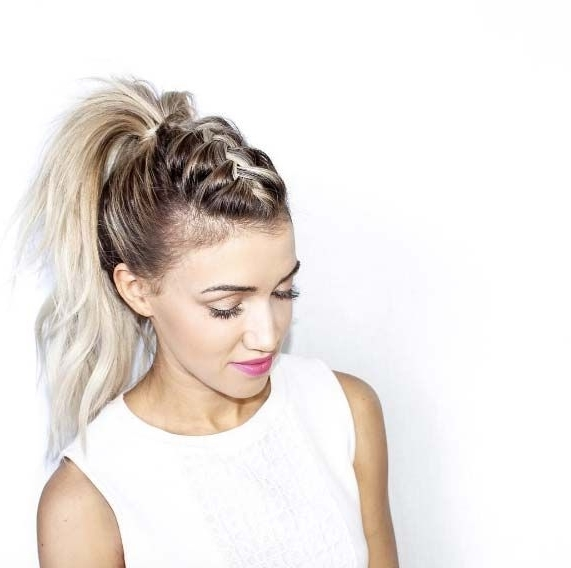 100 Easy And Stylish Summer Braid Hairstyles | Hairstyles Intended For Braided Mohawk Pony Hairstyles With Tight Cornrows (View 14 of 25)
