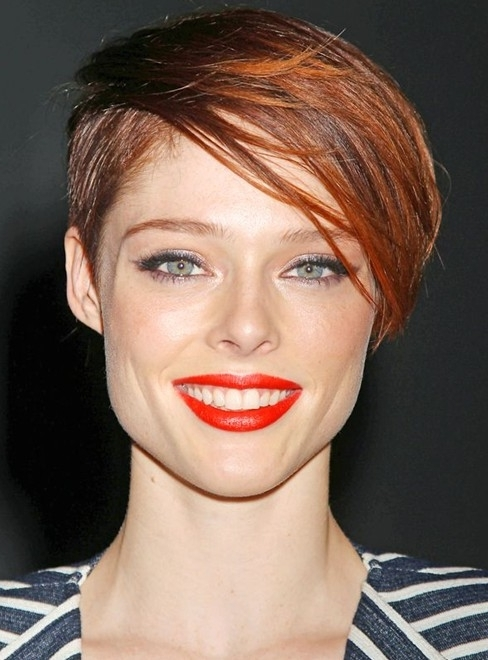 100+ Hottest Short Hairstyles & Haircuts For Women – Pretty Designs Intended For 2018 Short Choppy Side Parted Pixie Hairstyles (View 17 of 25)