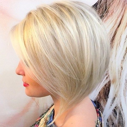 100 Mind Blowing Short Hairstyles For Fine Hair   Make My Hair Do In Platinum Blonde Bob Hairstyles With Exposed Roots (View 3 of 25)