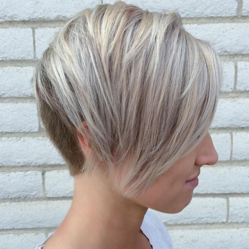 100 Mind Blowing Short Hairstyles For Fine Hair | New Hair Cut Pertaining To Most Recent Ash Blonde Pixie Hairstyles With Nape Undercut (View 2 of 25)