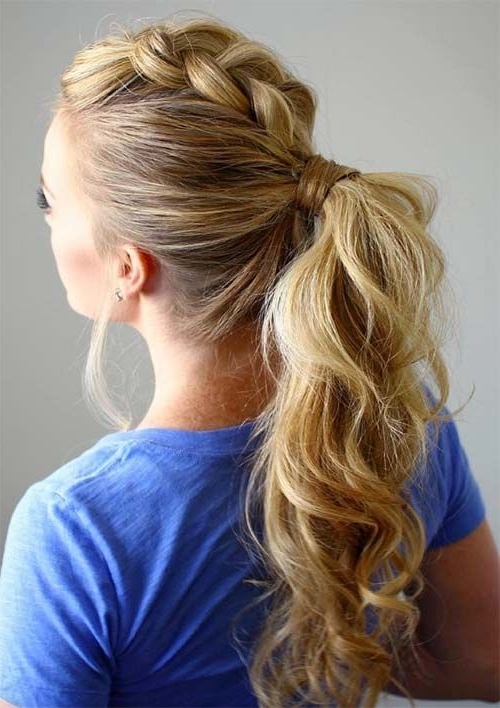 100 Ridiculously Awesome Braided Hairstyles To Inspire You In Ponytail Hairstyles With Dutch Braid (View 2 of 25)