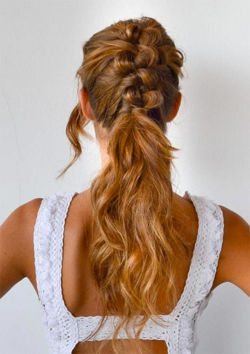100 Ridiculously Awesome Braided Hairstyles To Inspire You Throughout Pony Hairstyles With Textured Braid (View 4 of 25)