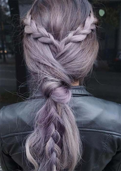 100 Ridiculously Awesome Braided Hairstyles To Inspire You With Regard To Braided And Knotted Ponytail Hairstyles (View 10 of 25)