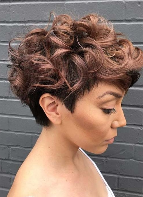 100 Short Hairstyles For Women: Pixie, Bob, Undercut Hair | Fashionisers For Most Recent Rose Gold Pixie Hairstyles (View 16 of 25)
