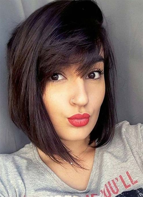 100 Short Hairstyles For Women: Pixie, Bob, Undercut Hair | Fashionisers Inside Current Pixie Bob Hairstyles With Temple Undercut (View 18 of 25)