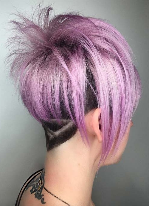 100 Short Hairstyles For Women: Pixie, Bob, Undercut Hair | Fashionisers Pertaining To Most Popular Lavender Pixie Bob Hairstyles (View 9 of 25)