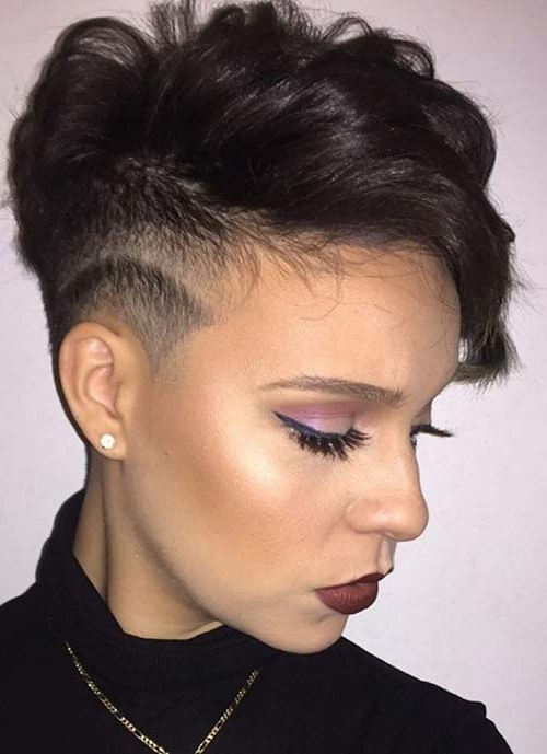 100 Short Hairstyles For Women: Pixie, Bob, Undercut Hair | Fashionisers Pertaining To Most Popular Tousled Pixie Hairstyles With Undercut (View 6 of 25)