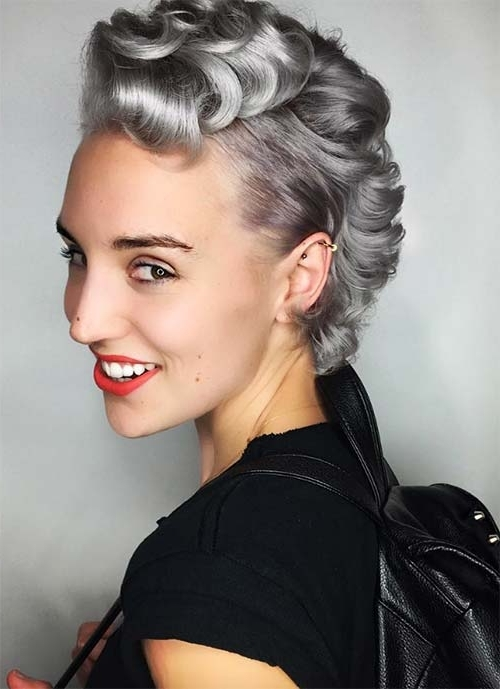 100 Short Hairstyles For Women: Pixie, Bob, Undercut Hair | Fashionisers Regarding Most Current Side Parted Silver Pixie Bob Hairstyles (View 17 of 25)