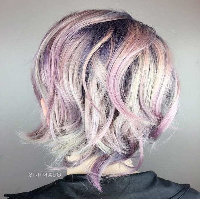 100 Short Hairstyles For Women: Pixie, Bob, Undercut Hair | Fashionisers With Blonde Bob Hairstyles With Lavender Tint (View 4 of 25)