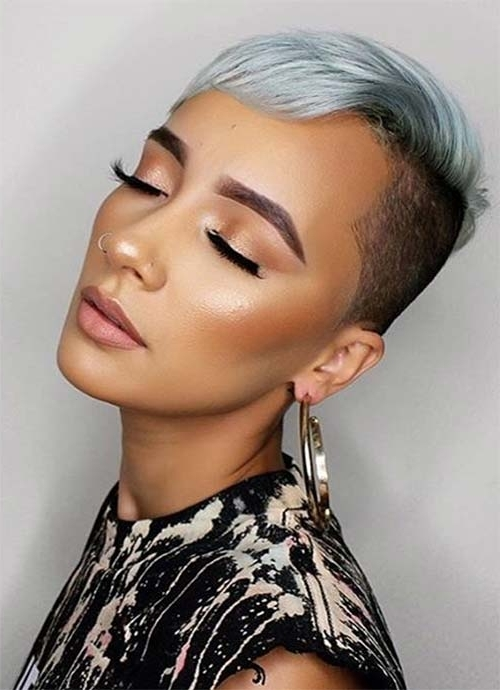 100 Short Hairstyles For Women: Pixie, Bob, Undercut Hair | Fashionisers With Most Popular Pixie Bob Hairstyles With Temple Undercut (View 9 of 25)