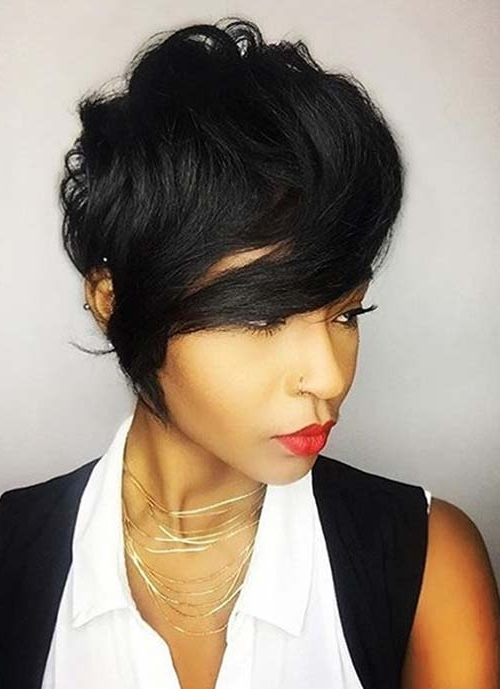 100 Short Hairstyles For Women: Pixie, Bob, Undercut Hair | Fashionisers With Regard To 2018 Choppy Side Parted Pixie Bob Hairstyles (View 23 of 25)