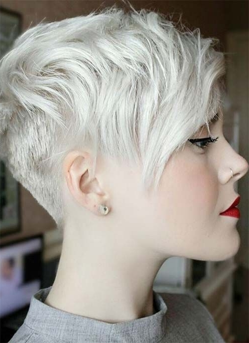 100 Short Hairstyles For Women: Pixie, Bob, Undercut Hair Within Newest Tousled Pixie Hairstyles With Undercut (View 2 of 25)