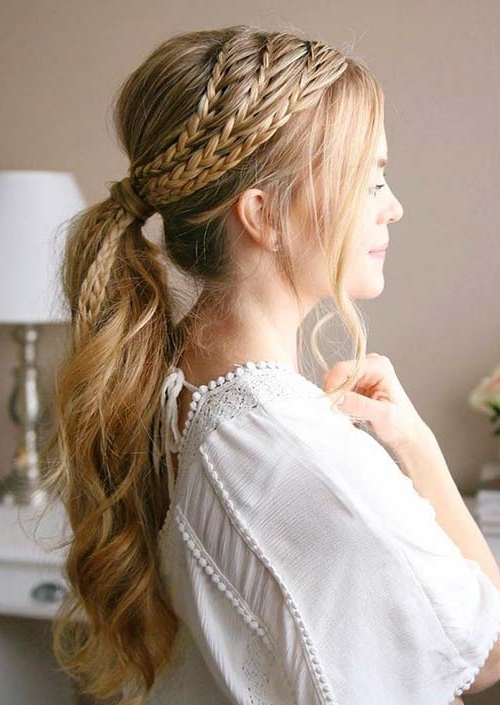 100 Trendy Long Hairstyles For Women To Try In 2017 | Fashionisers Within Braided Boho Locks Pony Hairstyles (View 17 of 25)