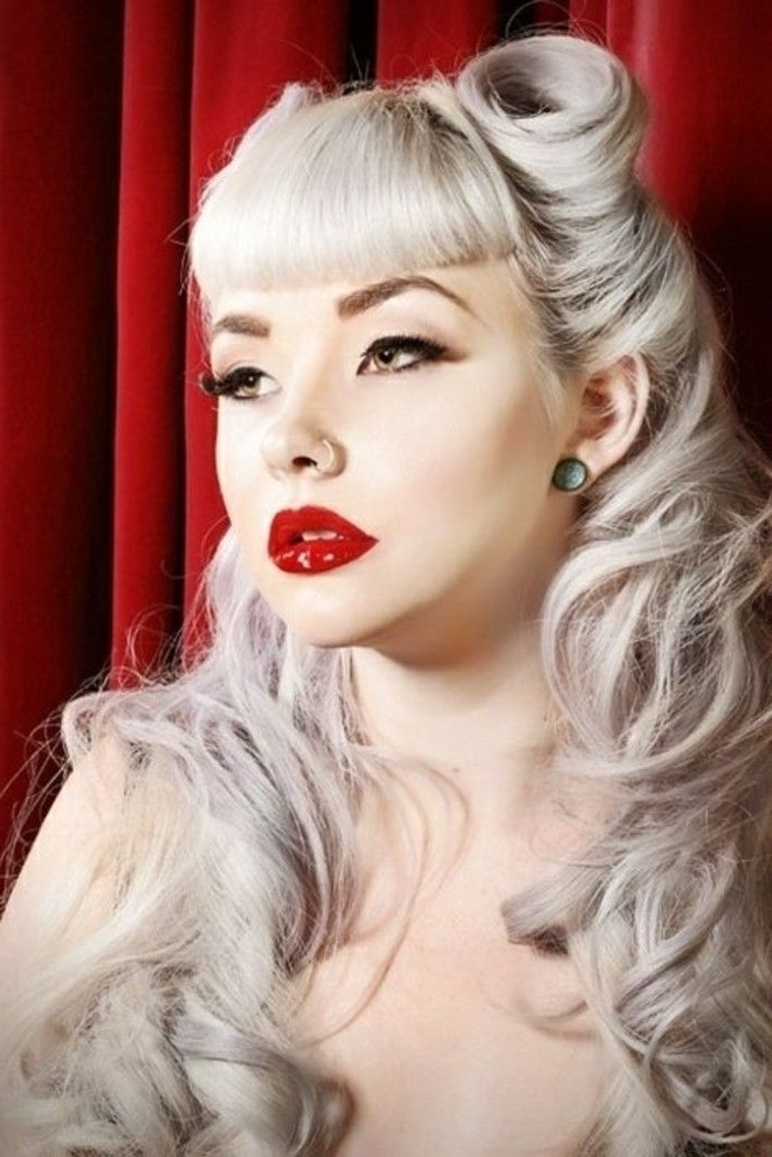 1001 + Ideas For Rockabilly Hair: Inspired From The 50's Within Silver Bettie Blonde Hairstyles (View 3 of 25)