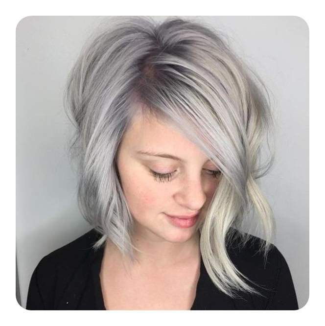 101 Asymmetrical Bob Hair Ideas For The Year 2018 – Style Easily With Asymmetry Blonde Bob Hairstyles Enhanced By Color (View 3 of 25)