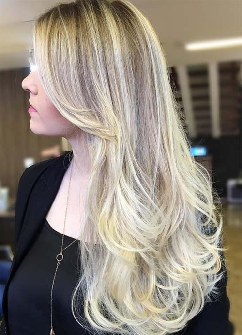 101 Layered Haircuts & Hairstyles For Long Hair Spring 2017 Inside Balayage Blonde Hairstyles With Layered Ends (View 9 of 25)