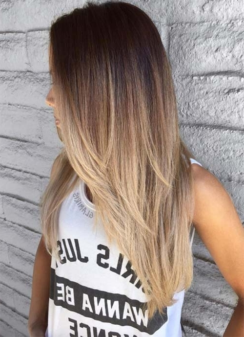 101 Layered Haircuts & Hairstyles For Long Hair Spring 2017 Regarding Brown And Dark Blonde Layers Hairstyles (View 12 of 25)